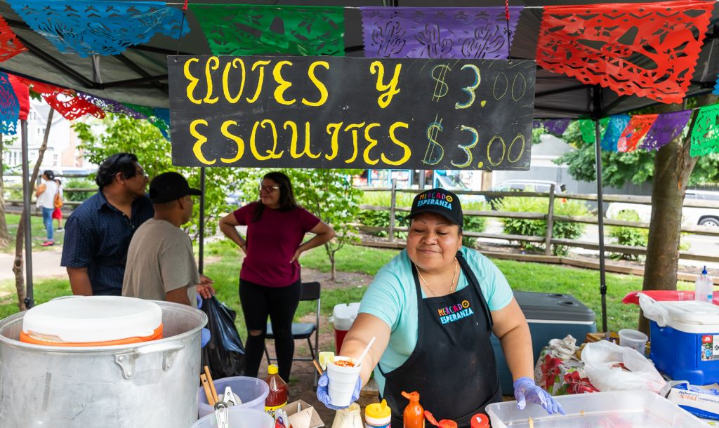 Sara Vidal Serving Esquites at Mercado