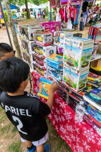 Kids toys for sale at Mercado Esperanza